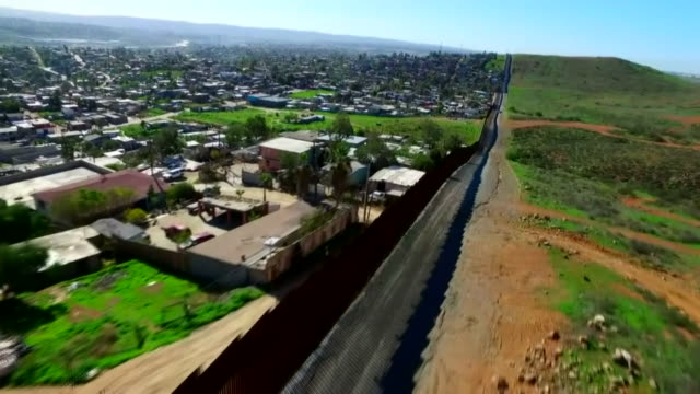 various views of the usamexico border wall - emigration and immigration stock videos & royalty-free footage