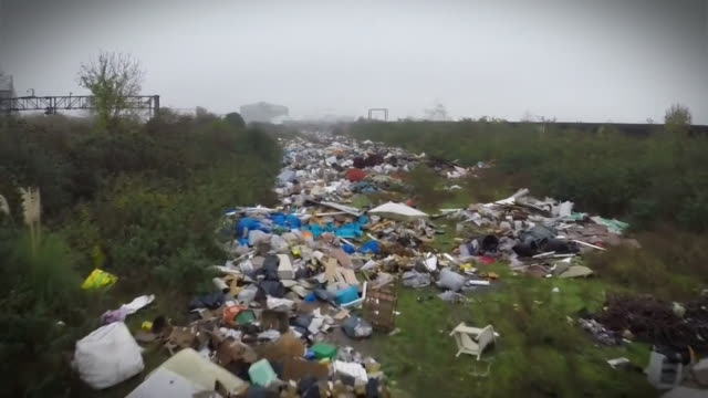 Various views of waste left behind due to flytipping