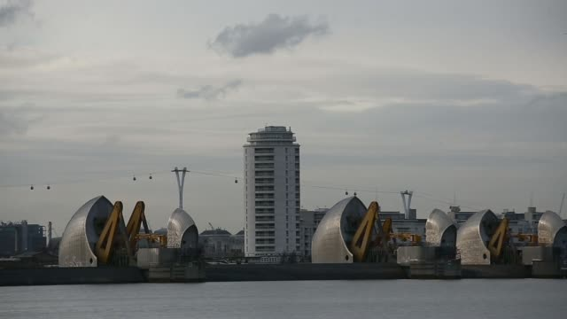 thames barrier as more rainfall expected - the o2 england stock videos & royalty-free footage