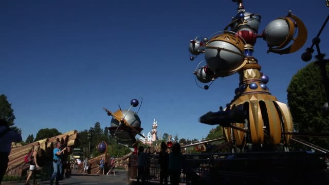 Various wideshots of the enterance to the Tomorrowland section of Disneyland in Anaheim California Disneyland Tomorrowland on November 06 2013 in...