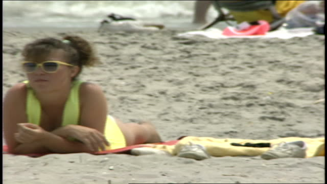 various women laying on beach in avalon nj - 1990 stock videos & royalty-free footage