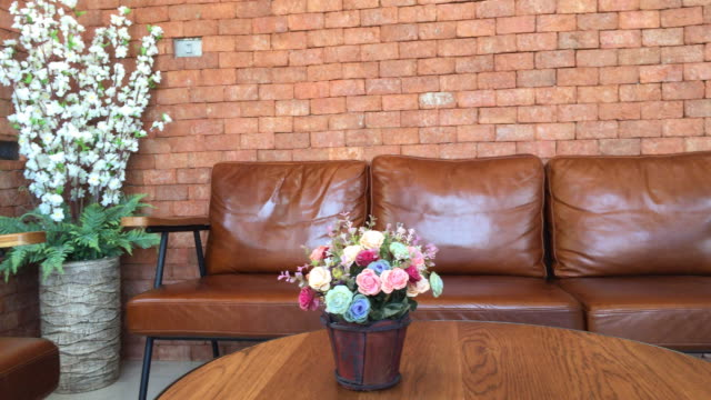 Vase Flower With Sofa