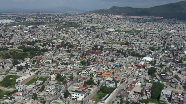 Vast area of densely populated housing in Mexico City.