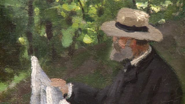vast claude monet retrospective in paris sheds new light on the impressionist megastar, vaunting a 'difficult' artist and using ultra-modern leds to... - impressionism stock videos & royalty-free footage