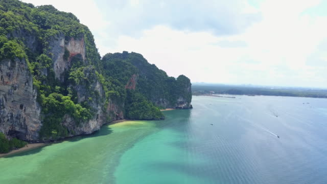 vast coast in thailand, aerial - seascape stock videos & royalty-free footage