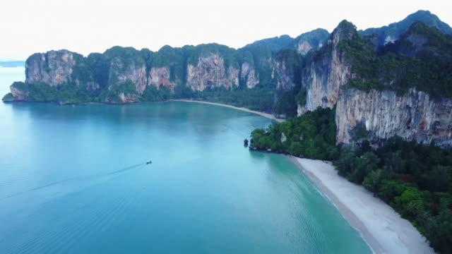 vast coastline in thailand, aerial - krabi province stock videos & royalty-free footage