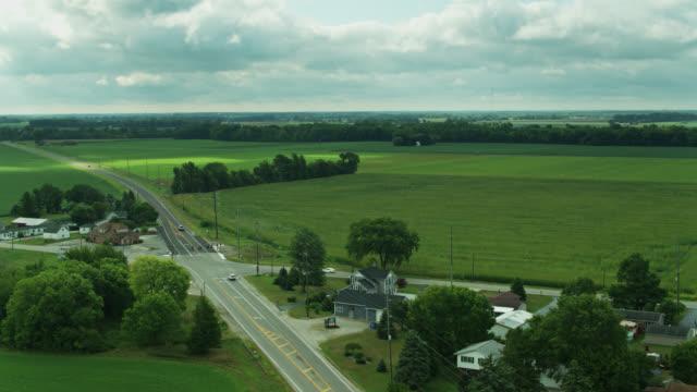 vast cornfield at the edge of ohio town - ottawa stock videos & royalty-free footage