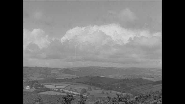 vídeos y material grabado en eventos de stock de montage vast countryside fields and hills on sheep farm / aberystwyth, wales - aberystwyth