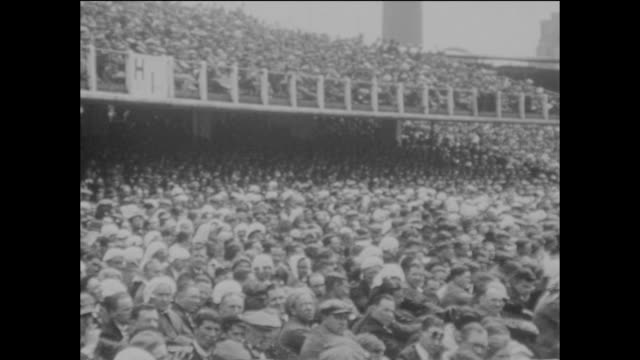 vast crowds attended the 2nd ashes test match between england and australia at lord's cricket ground in london, 26th june 1926. - ashes test stock videos & royalty-free footage