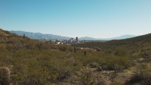 Vast Desert Landscape Overlooking Downtown Tucson, Arizona