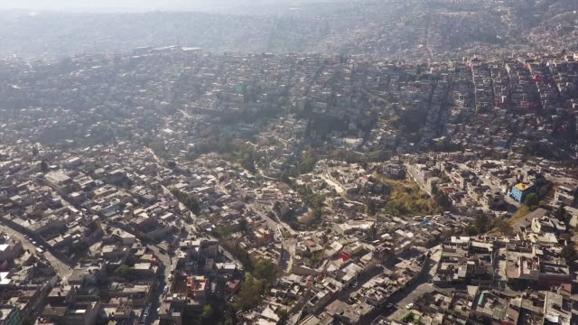 Vast Mexico City landscape, aerial view