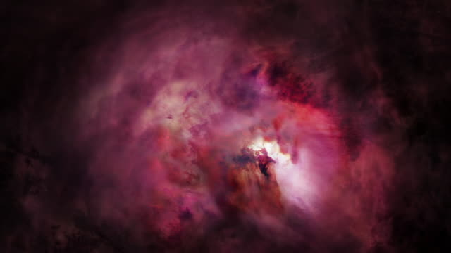 gfx vast pink nebula clouds of hydrogen gas - glowing stock videos & royalty-free footage