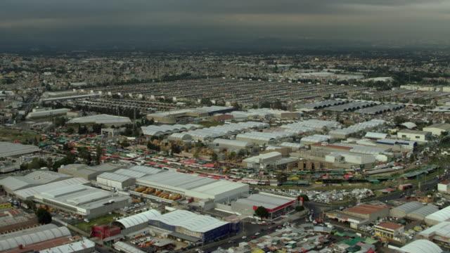 vast wholesale market in mexico city - central de abastos stock videos & royalty-free footage