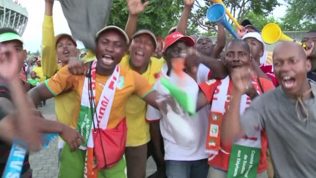 a vastly improved ivory coast put themselves within touching distance of the africa cup of nations quarter finals with a silky 3 0 win over tunisia... - quarterfinal round stock videos & royalty-free footage