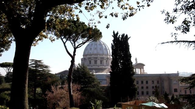 clean vatican city general views on february 19 2013 in vatican city vatican - ベネディクト16世の退位点の映像素材/bロール