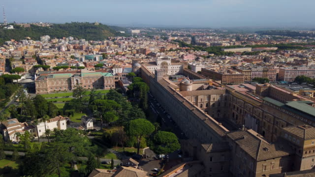 vatican cityscape view - st peter's square stock videos & royalty-free footage
