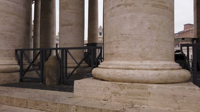 vatican columns - st peter's square stock videos & royalty-free footage