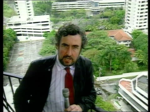 vídeos y material grabado en eventos de stock de vatican embassy refuses to hand over general noriega rees i/c - 1989
