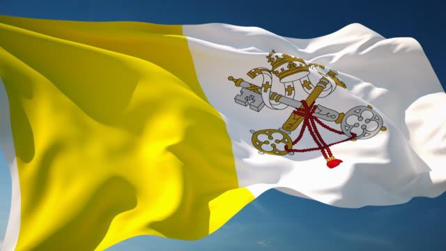 4K Vatican Flag - Loopable
