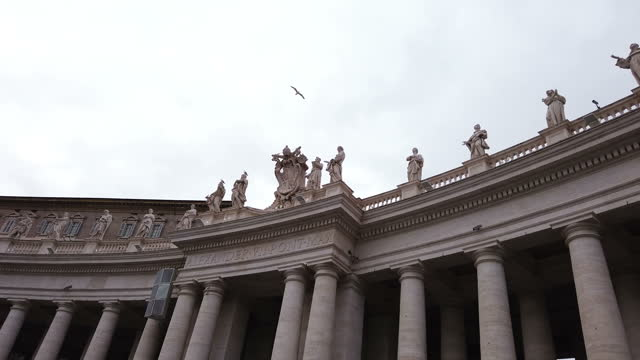 vatican fountain in st. peter`s square in rome - st peter's square stock videos & royalty-free footage