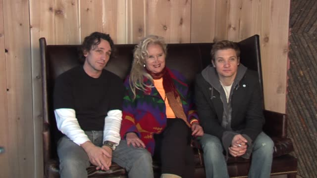 vau fischer sally kirkland and jeremy renner at the 2006 sundance film festival hp portrait studio presented by wireimage at wireimage studio in park... - sally kirkland stock videos and b-roll footage
