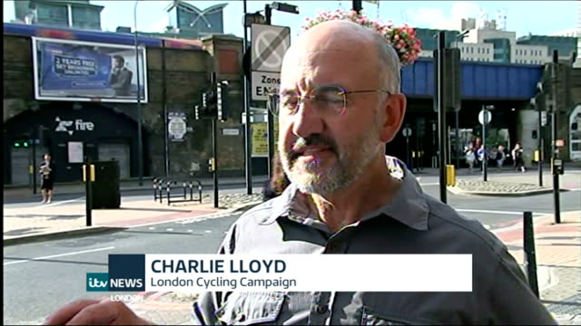 Vauxhall gyratory to have protected cycle lane ENGLAND London EXT Charlie Lloyd interview SOT the main thing is to take out this nasty one way system...