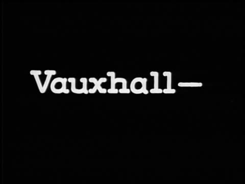 """b/w 1928 slate: """"vauxhall-the car of basic balance"""" / industrial - 1928 stock videos & royalty-free footage"""