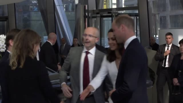 vídeos de stock e filmes b-roll de i've just sent through two clips of the duke and duchess' arrival at the warsaw spire please can they be put together and pushed through i will have... - spire