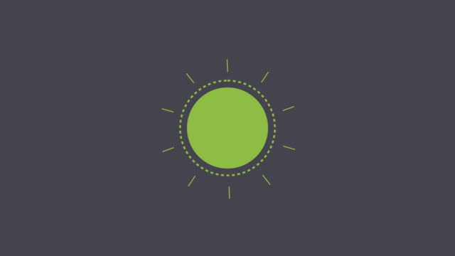 vector - green sun opening style - vector stock videos & royalty-free footage