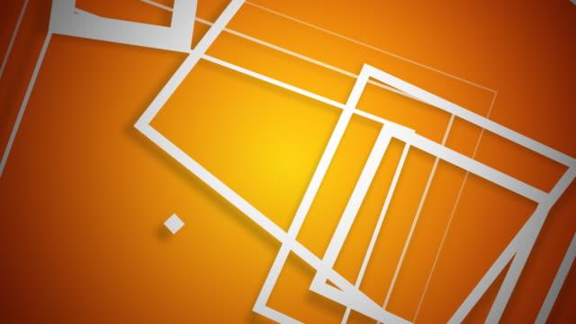 Vector Squares White on Orange