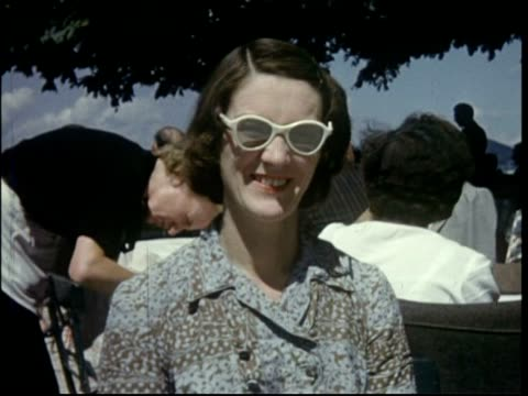 vídeos de stock e filmes b-roll de european holiday 1950; vee stammers in salzburg - 1955