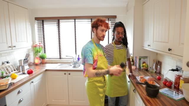 vegan cooking in the kitchen - vegan food stock videos & royalty-free footage