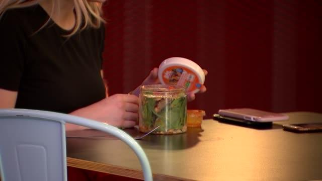 bol vegan foods / paul brown interview england int women eating salads from jars / - bol stock videos & royalty-free footage