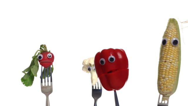 vegetable crowd two - puppet stock videos & royalty-free footage