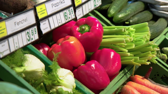 vegetable section of a supermarket - price tag stock videos & royalty-free footage