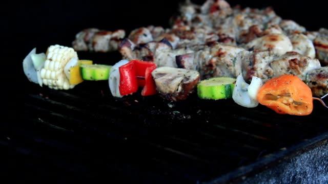 Barbecue légumes Shish Kebab