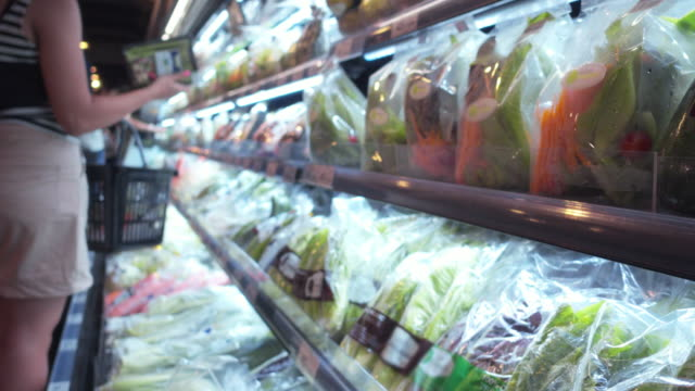 vegetable shopping - plastic stock videos & royalty-free footage