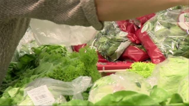 vídeos de stock e filmes b-roll de vegetable stall - saco de plástico