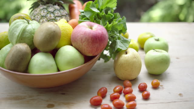 vegetables and fruits for health - detox stock videos & royalty-free footage