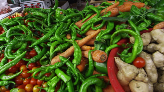 Vegetables at an open market in San Francisco