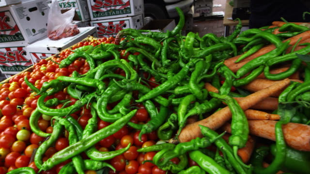 vegetables at an open market in san francisco - ginger spice stock videos and b-roll footage