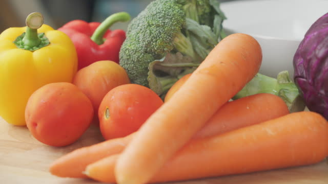 vegetables on the table - vegetable stock videos & royalty-free footage
