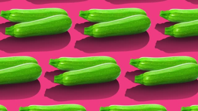 vegetables pattern on color background. - courgette stock videos and b-roll footage