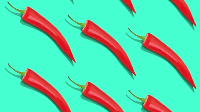 vegetables pattern on color background. - red bell pepper stock videos & royalty-free footage