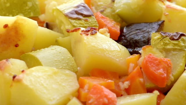 vegetables slices, baked in the oven