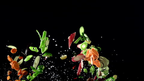 vegetables - falling stock videos & royalty-free footage