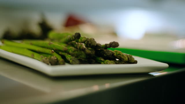 vegetarian meal - healthy asparagus - fat nutrient stock videos & royalty-free footage