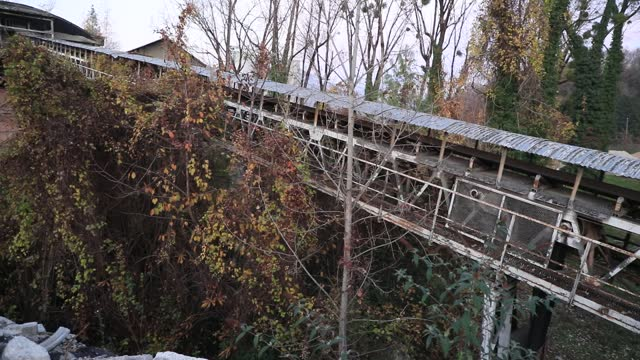 vegetation invades an access ramp at the abandoned industrial site of the former 'chiron' cement factory on november 22, 2020 in chambery, france.... - wilderness stock videos & royalty-free footage