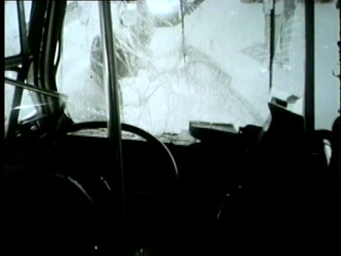 vehicle accident involving a streetcar officer interviews witness in chicago in 1954 - 1954 stock videos and b-roll footage