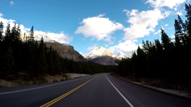 pov vehicle driving on scenic road - main road stock videos & royalty-free footage